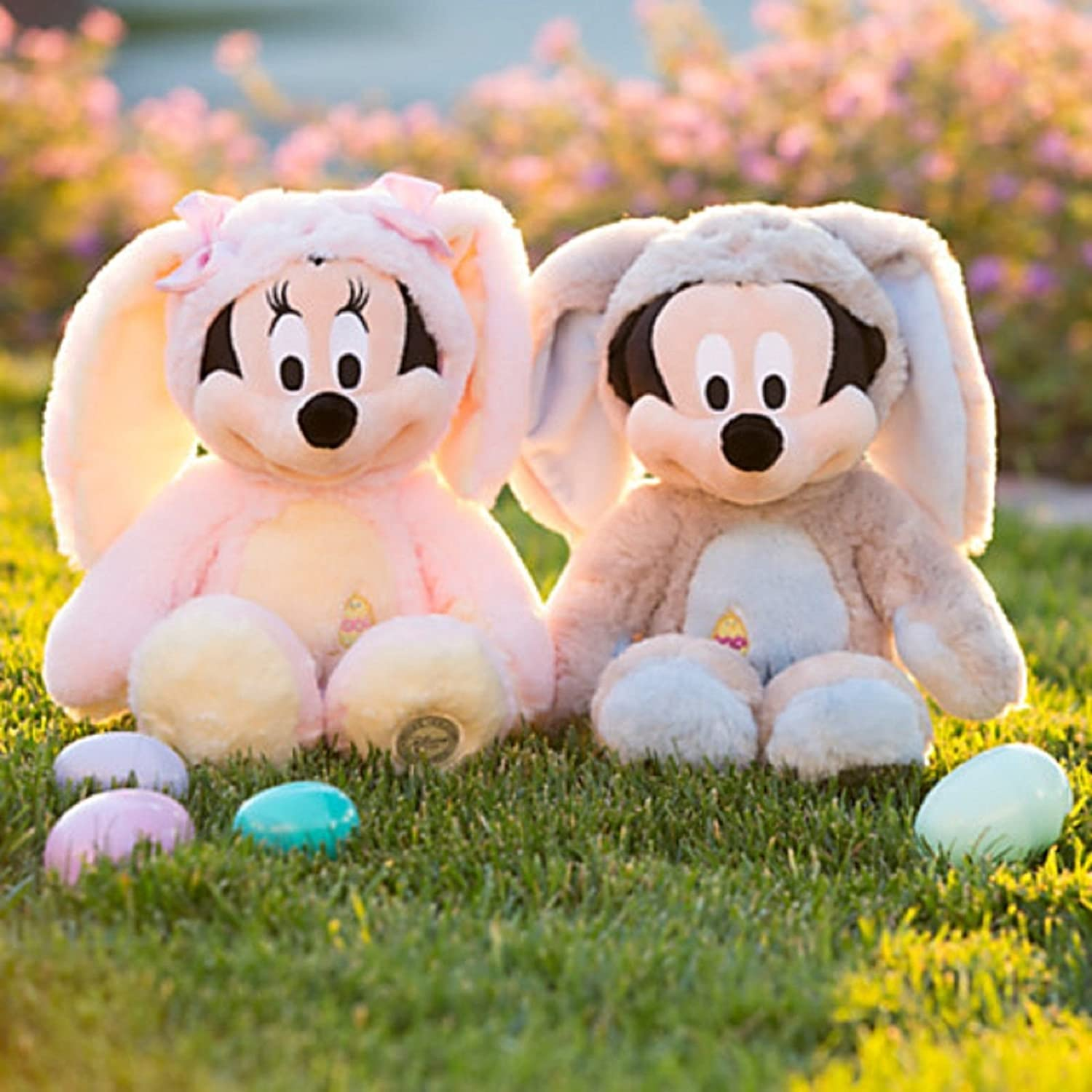 Amazon Disney Store Mickey And Minnie Mouse Bunny Easter Plush Set 2014 NWT Toys Games