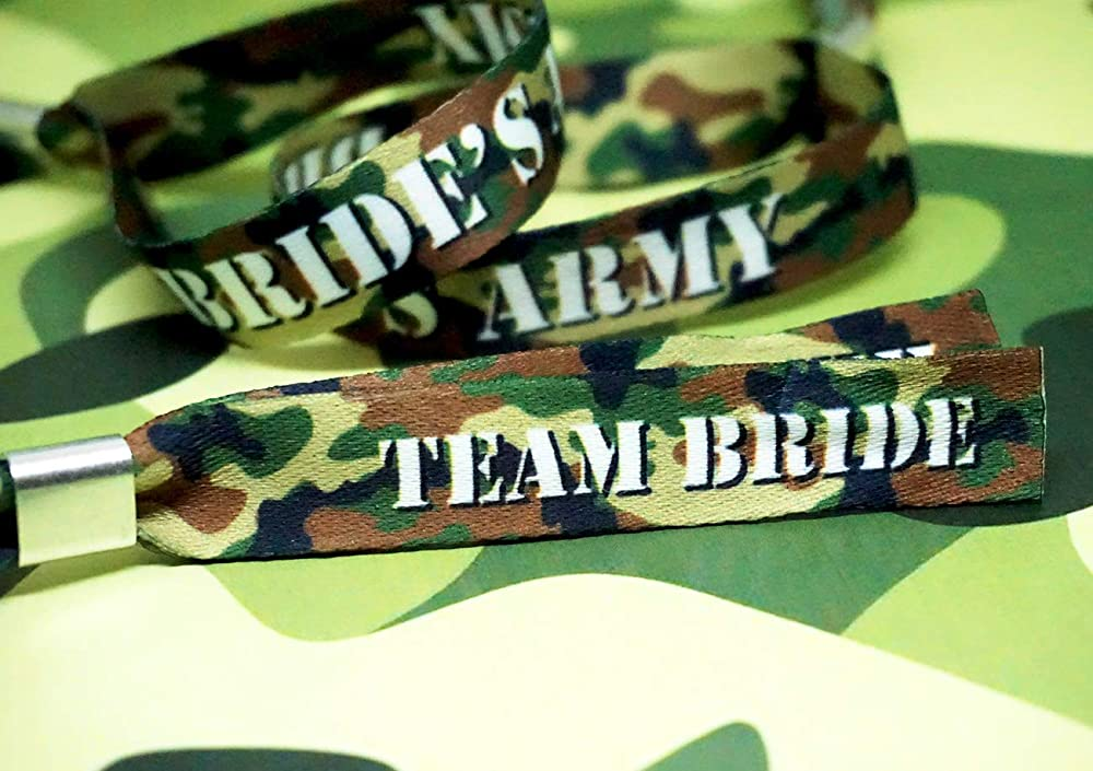 Army Theme Camouflage Hen Party Wristbands Brides Army Camo Favours Accessories