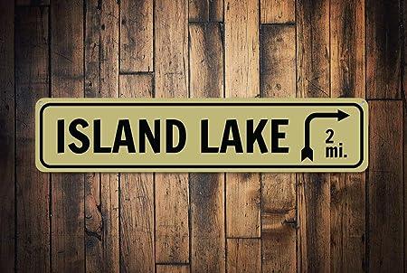Dozili Señal de Flecha de Lago Nombre de Lago Personalizable ...