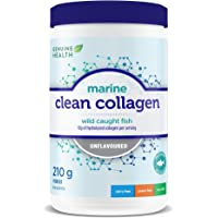 Genuine Health Marine Clean Collagen, 10g Of Pure Hydrolyzed Marine Collagen, Wild Caught Fish, Dairy Free, Gluten Free, Non GMO, Unflavored, 210g