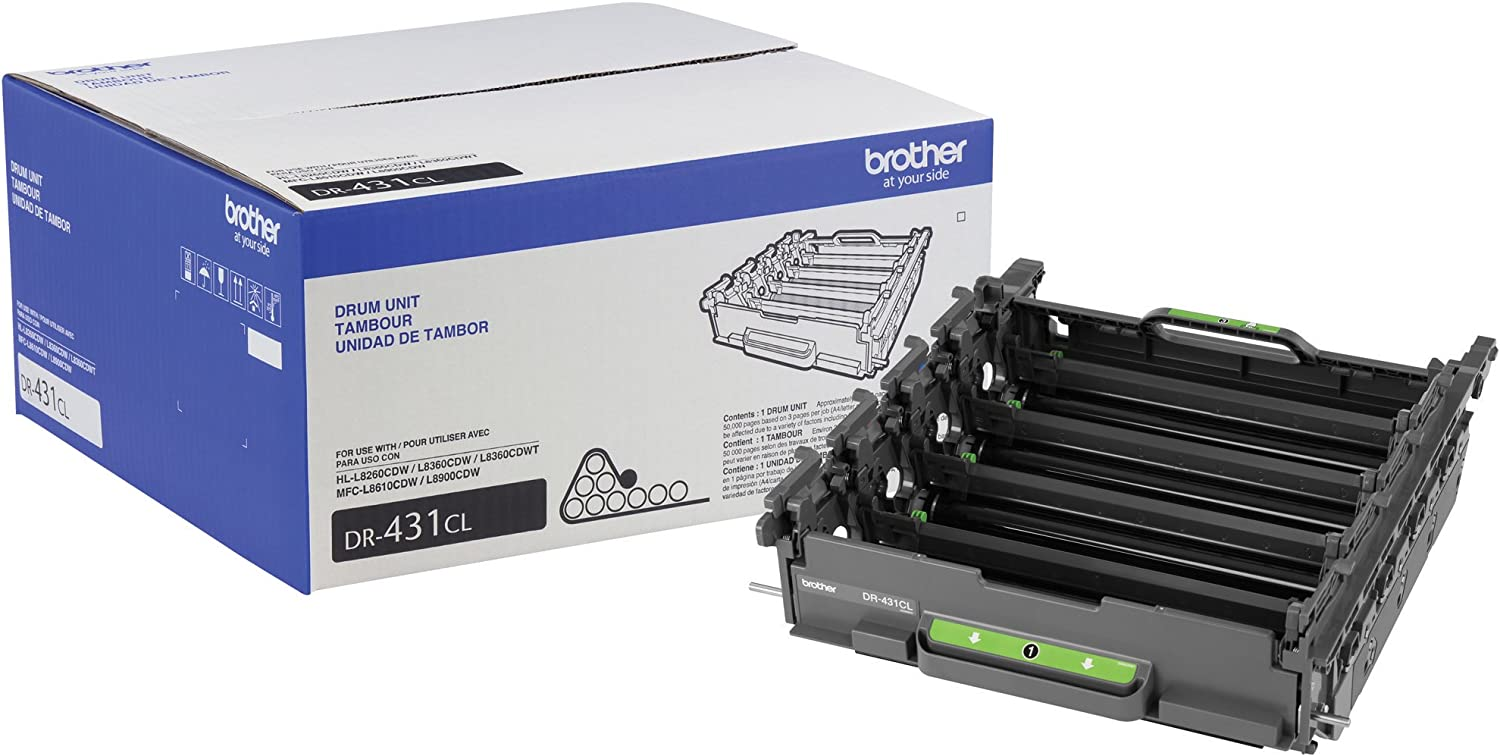 Brother Printer DR431CL Drum Unit-Retail Packaging, White