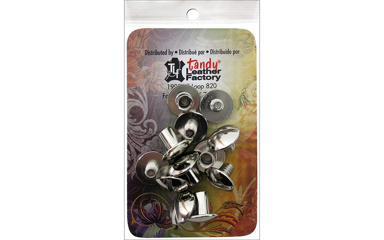 Tandy Leather 1/4 Nickel Chicago Screws 1290-02 by Tandy Leather Factory   B001E5XSS6