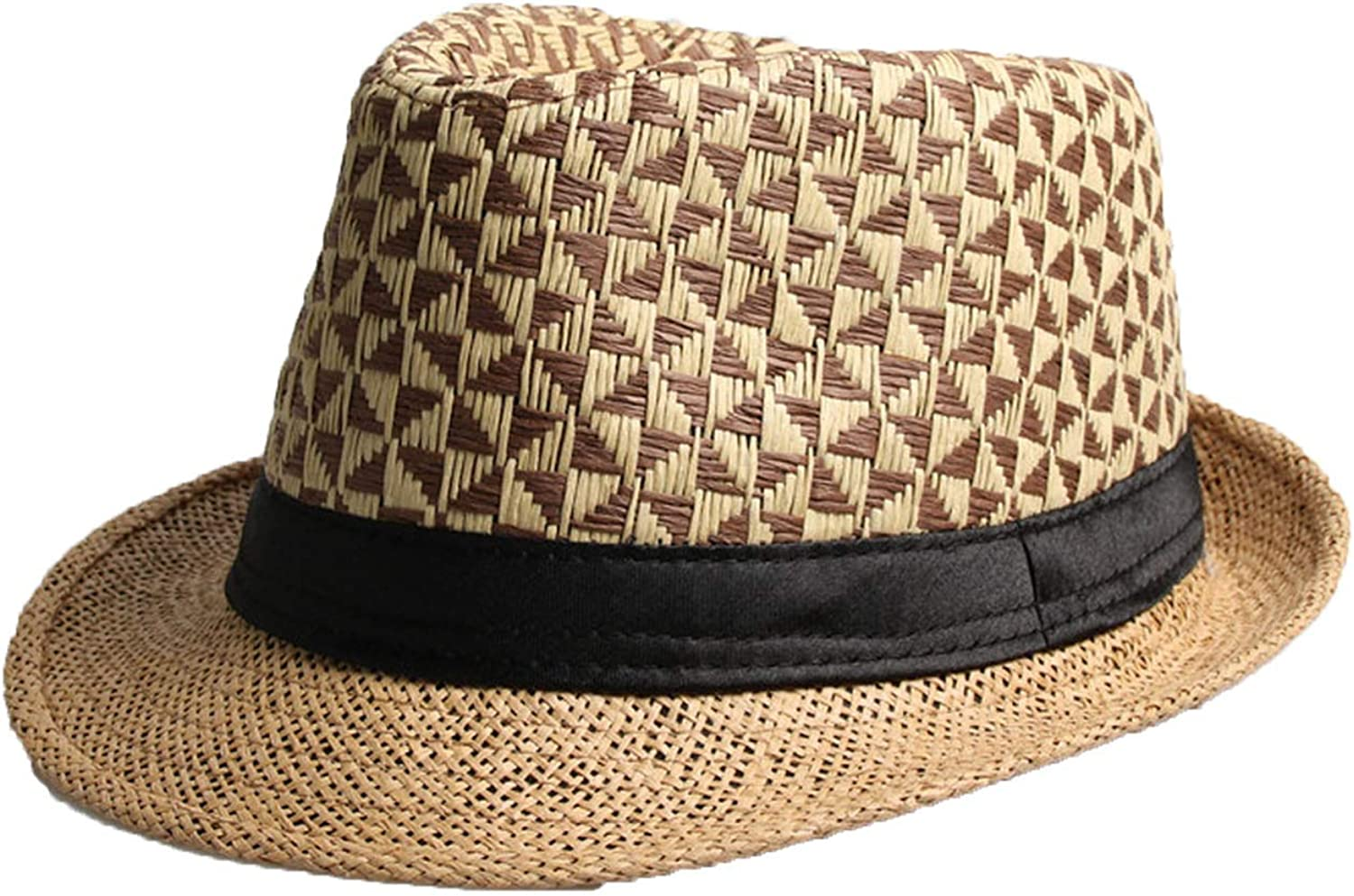 Fashion Summer Straw Man and Womens Sun Hats Trilby Gangster Cap Summer Beach Women Sun Straw Panama Hat