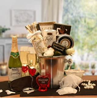 Couples romantic nights gift basket amazon grocery gourmet food deluxe romantic evening for two gift basket negle Choice Image