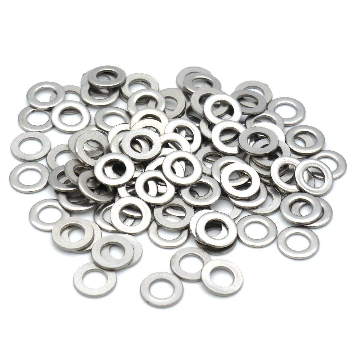 TOPINSTOCK M5 x 12mm Stainless Steel Flat Washer for M5 Screw Pack of 100