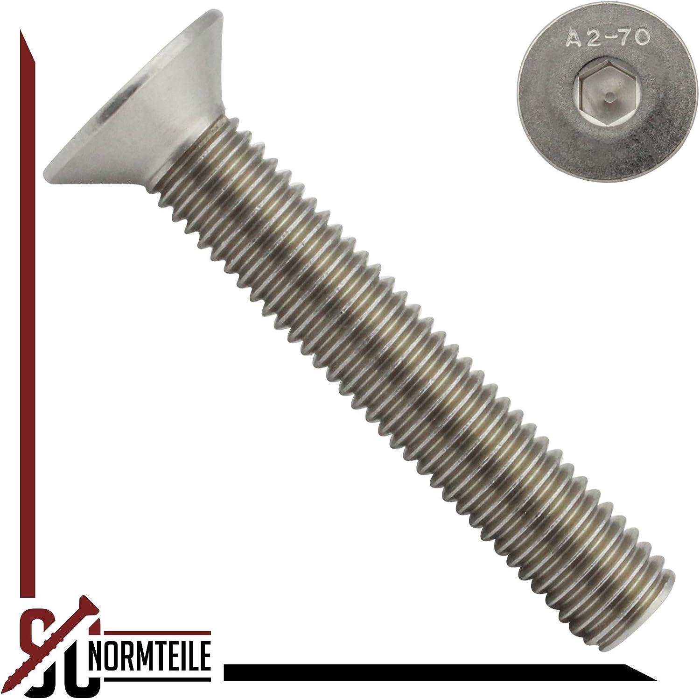 SC-Normteile/® Senkkopfschrauben mit Innensechskant - DIN 7991 // ISO 10642 SC7991 Vollgewinde - M3x30 - 10 St/ück ISK Werkstoff: Edelstahl A2 V2A Senkschrauben