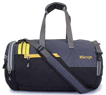 50c61130fbcd Verage Unisex Grey 25 L Blended Boxer Duffle Bag with Shoes Compartment   Amazon.in  Bags