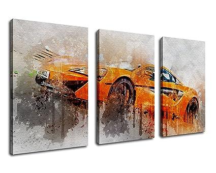 Amazon Com Wall Art Canvas Prints Racing Car Painting Print On