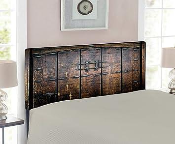 Amazon.com: Cabecero rústico Lunarable, puerta antigua de ...
