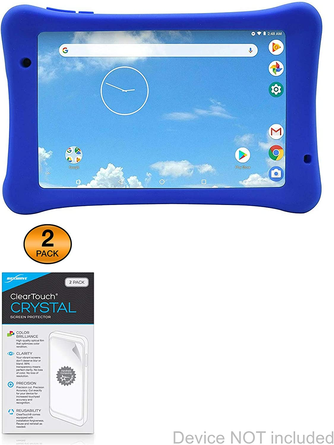 STV-230-4KH ClearTouch Crystal Shields from Scratches for Elvid STV-280-4KH Elvid STV-280-4KH Screen Protector 2-Pack BoxWave HD Film Skin