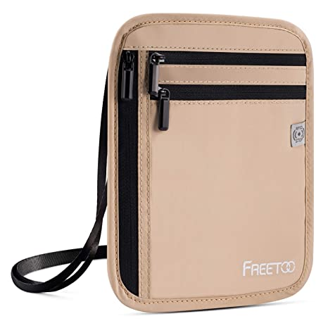 888c16c44ebc Amazon.com | FREETOO Travel Neck Wallet Neck Pouch with RFID ...