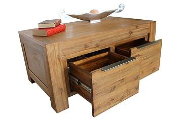 Couchtisch 100 X 60 Cm Wohnzimmertisch Tisch Florenz Massivholz Akazie Massivholztisch