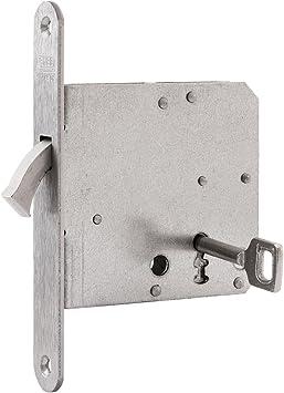 nemef 9751620010 Puerta Corredera Cerradura con arco cerrojo Incluye Cerradero, niquelado, mandril: 55 mm: Amazon.es: Bricolaje y herramientas