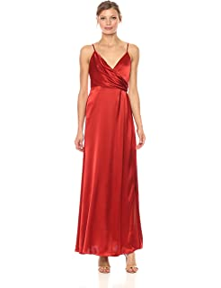Amazoncom Jill Jill Stuart Womens Long Satin Gown Clothing
