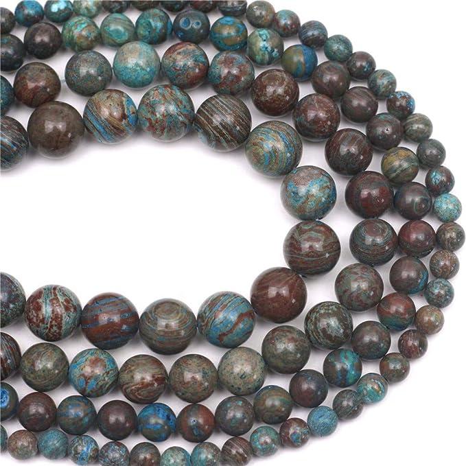 80009915-A188 8MM Genuine Light Blue Hemimorphite  Gemstone Grade AA Round Loose Beads 7.5 inch Half Strand
