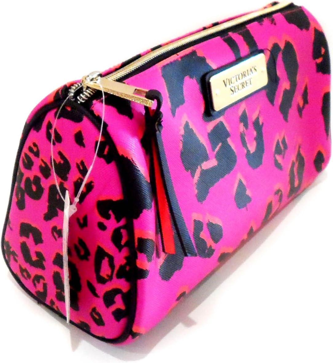 New Genuine Victoria s Secret rosa Leopardo Logo bolsa de maquillaje estuche de maquillaje, (): Amazon.es: Belleza