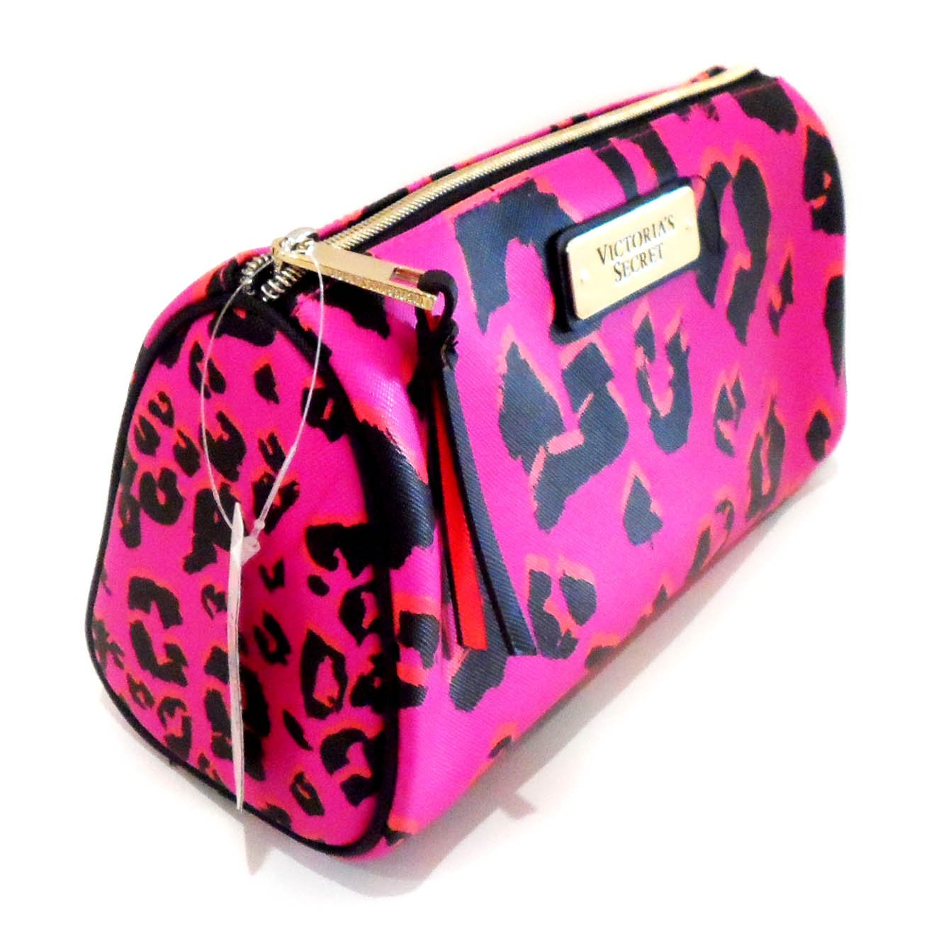 New Genuine Victoria s Secret rosa Leopardo Logo bolsa de ...