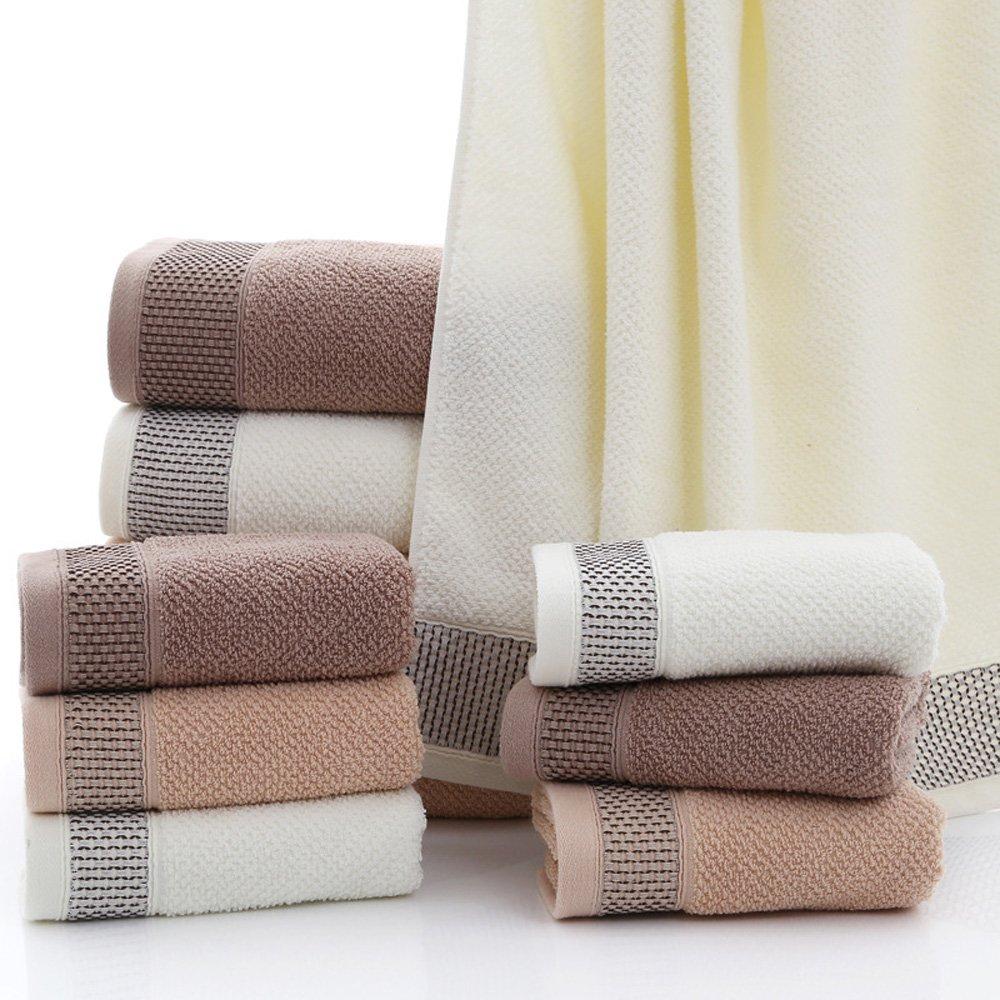 ZZCR 35cm75cm 110g Towels Washcloths Cotton Bath Towel Suit Facecloth 3PCS/Lot (Grey+Green+Blue, 35cm75cm)