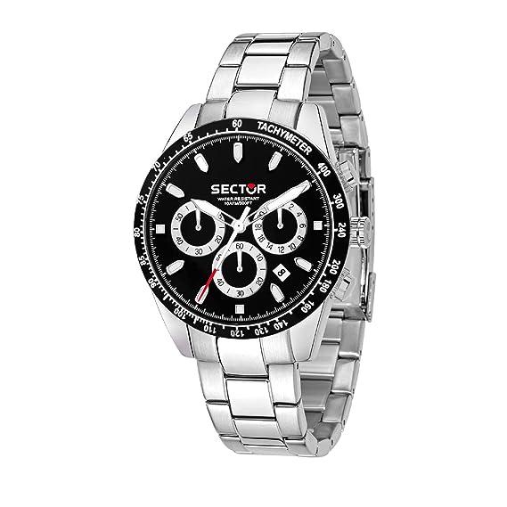 Sector NO Limits Reloj Cronógrafo para Hombre de Cuarzo con Correa en Acero Inoxidable R3273786004: Amazon.es: Relojes