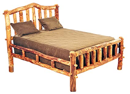 Merveilleux Mountain Woods Furniture Aspen Heirloom Collection Snowload I Bed, Twin,  Golden Poly Finish