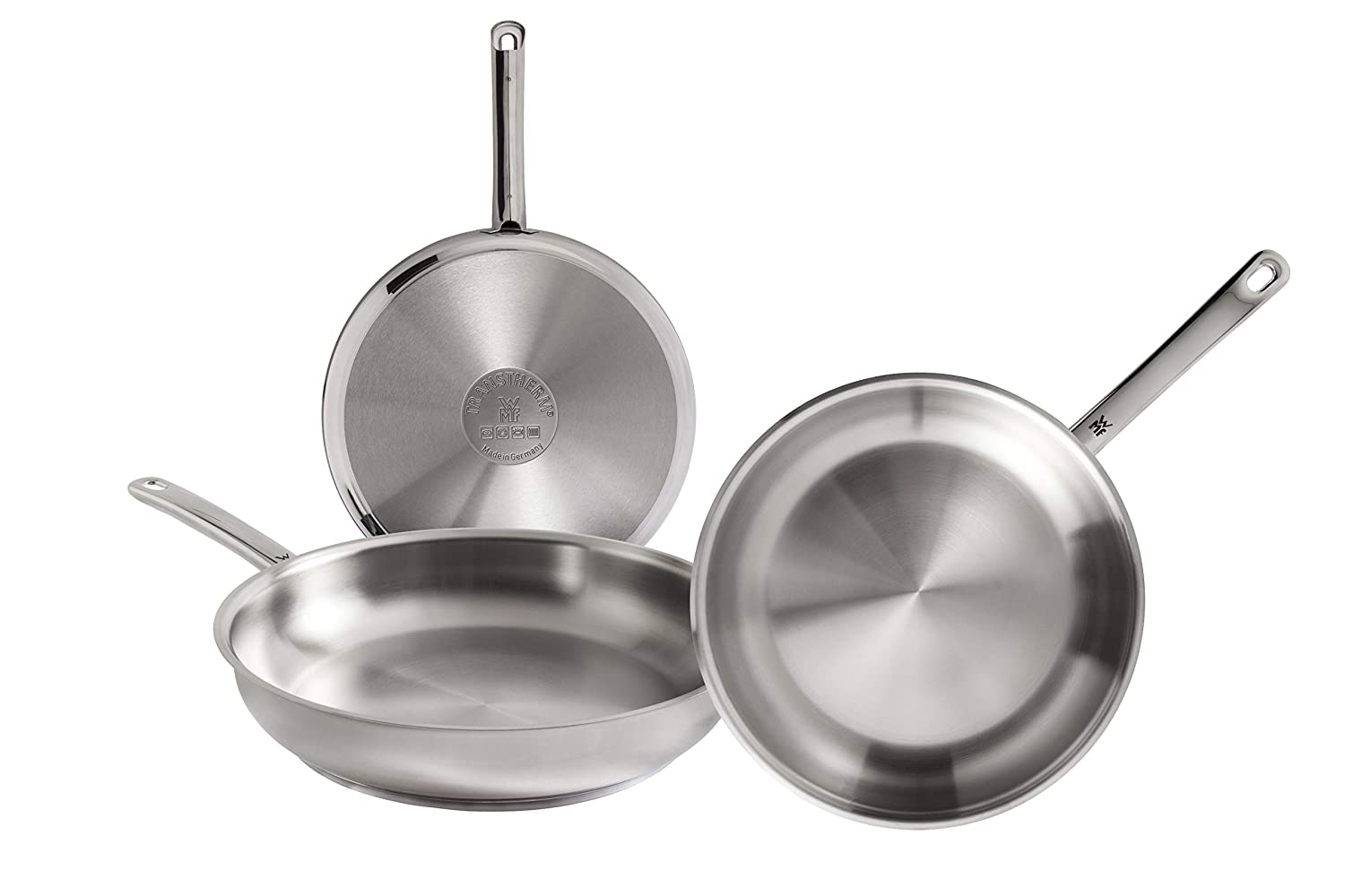 Amazon.com: WMF Profi Set of 3 Stainless Steel Frying Pans ...