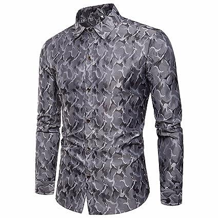 best authentic 215c9 f9f7d serliy😠Modisches Herrenhemd Mit Print Elegantes T-Shirt Mit ...