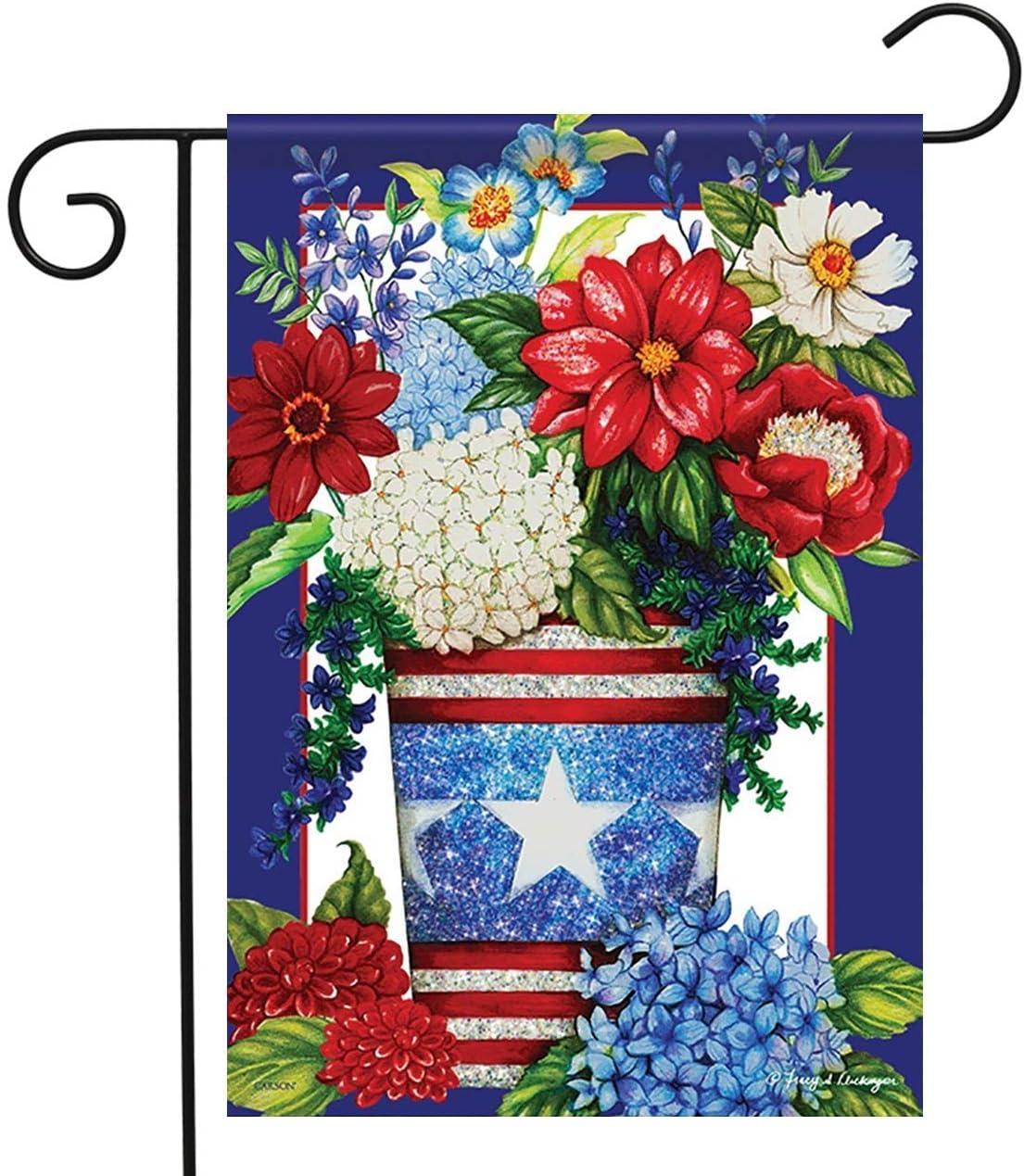 Carson Garden Flag - Patriotic Flowers