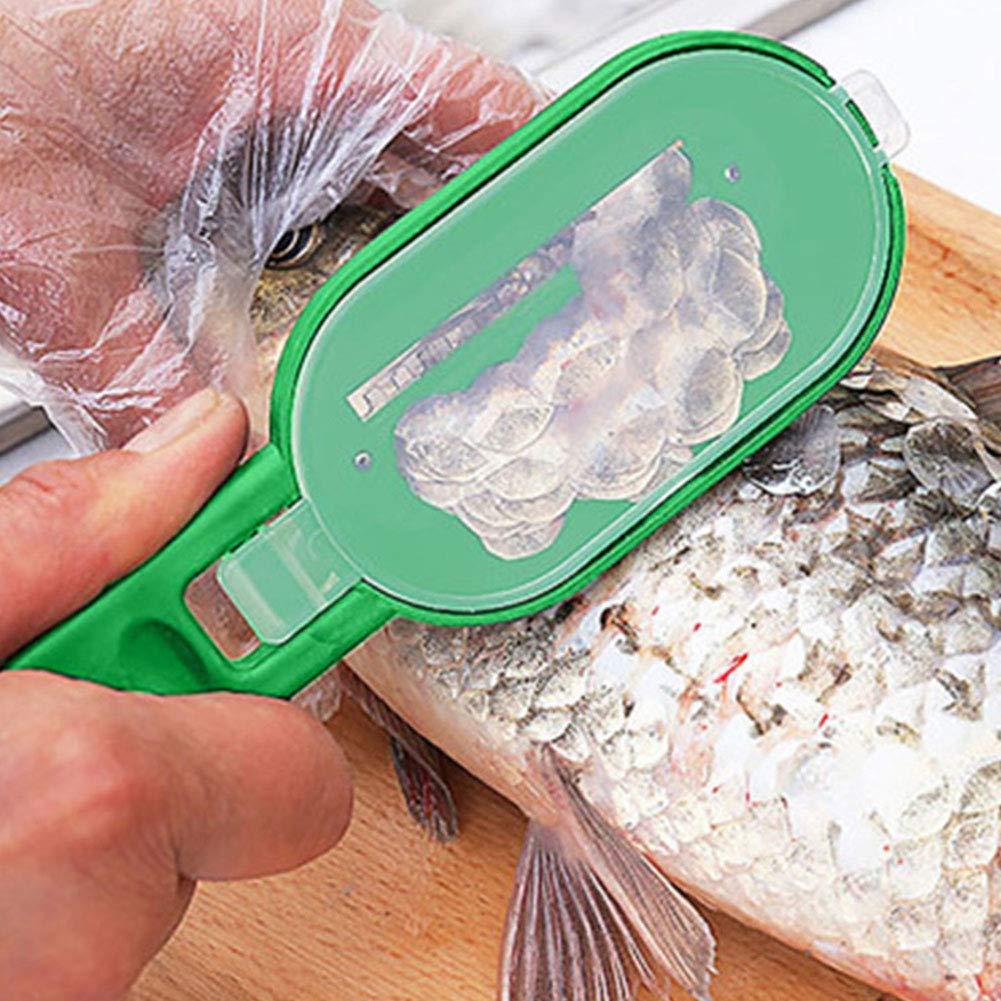 Poisson D/ÉTARTRANT Pratique Scaler Scraper Cleaner Outil De Cuisine Protection des Doigts De Coupe De L/égumes Couleur Al/éatoire