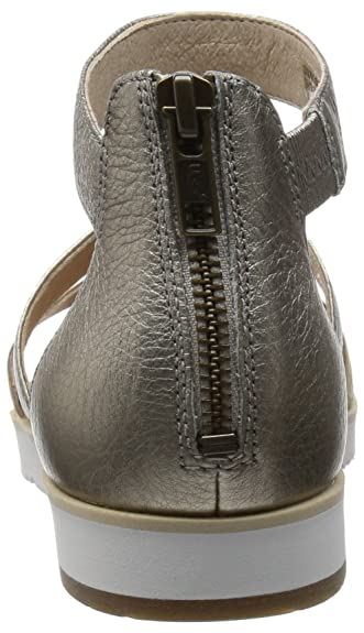 7c119bf6019 UGG Women's Zina Grey Gold Leather Sandal: Amazon.co.uk: Shoes & Bags