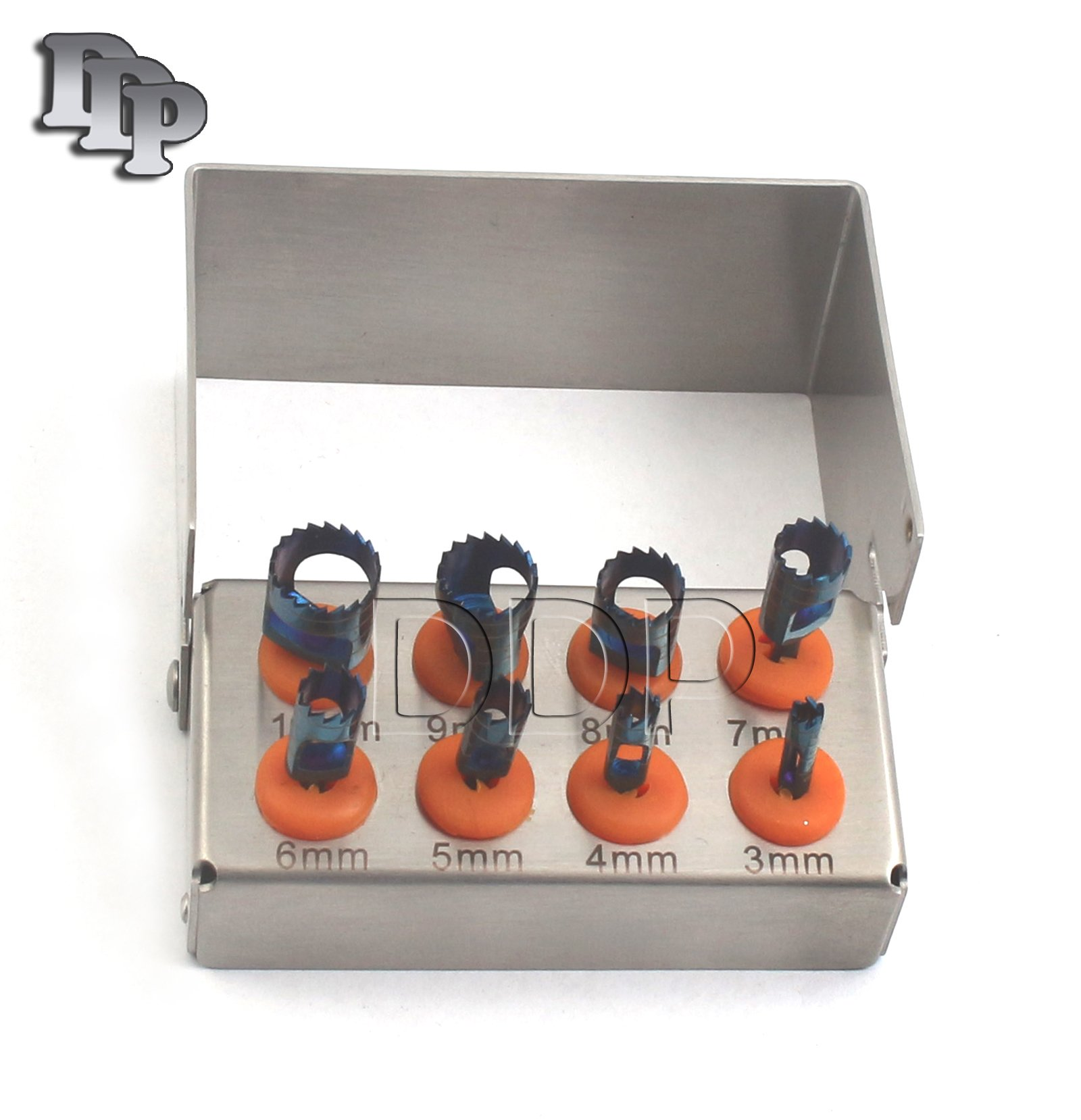 DDP 8 PCS DENTAL TREPHINE DRILLS KIT FOR IMPLANT WITH BUR HOLDER