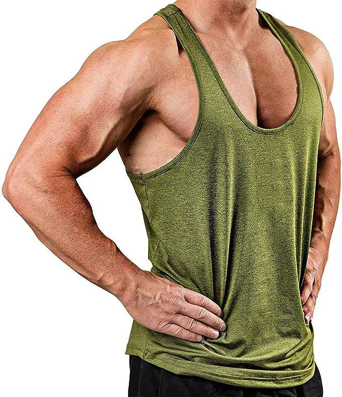 MUSCLE TANK TOP MENS PLAIN BODYBUILDING GYM VEST TANK TOP ATHLETIC VALUE VEST