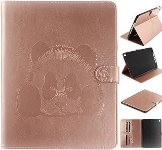 YuanYuZhongPhoneSky Nouvel iPad 9.7' étui en Cuir 2017 - [État De l'art] [Protection De Coin] [Réveil/Sommeil] Multi-Angle Affichage Folio Housse Etui pour Apple iPad 9.7 2017 Modèle - acbricot Panda