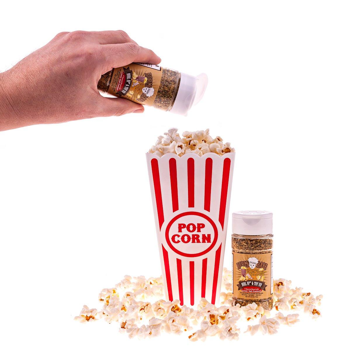 Burly Babe Gourmet Garlic Popcorn Seasonings (Pack of 3) NET WT 2.6 OZ (73g) each with Lower Salt Content