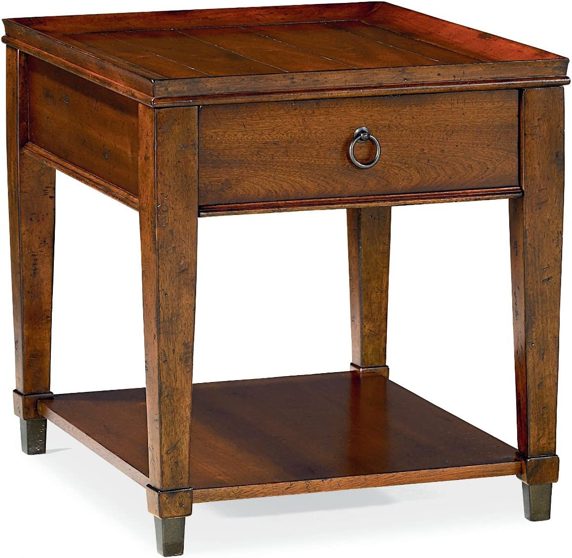 Hammary End Table in Rich Mahogany Finish