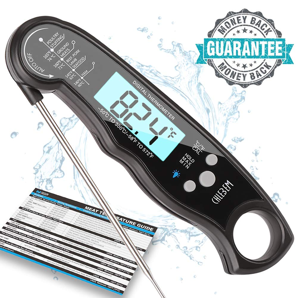 Digital Meat Thermometer Instant Read For Grilling Cooking Food BBQ or Candy,Wireless Waterproof For Kitchen ,Oven,Grill,Water,Beer,Milk, Bath Water Probe,Steak, Indoor Outdoor (Meat Thermometer 1)