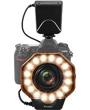 液晶 LED 8マクロ カメラ Nikon 画面 リングフラッシュ バンドル リングフラッシュ 電源制御付き アダプターリングとフラッシュ Emiral ディフューザーCanon 対応
