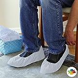 "Valutek Disposable Shoe Covers 100 pieces, Waterproof/Polyethylene/Elastic Ankle Cuff, 18"" Length VTSHCVPLHWX"