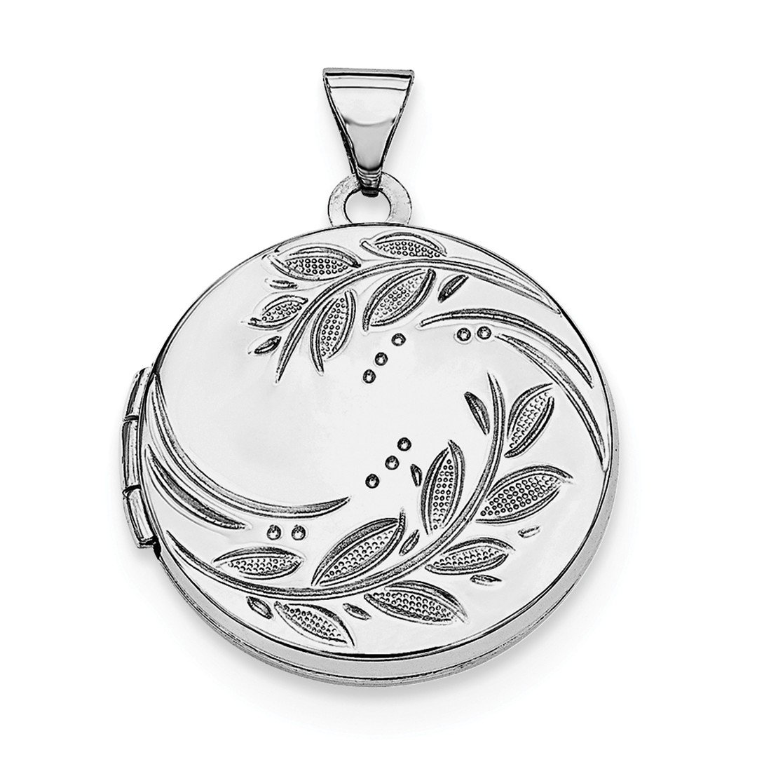 ICE CARATS 925 Sterling Silver 20mm Round Leaf Floral Photo Pendant Charm Locket Chain Necklace That Holds Pictures Shaped Fine Jewelry Ideal Gifts For Women Gift Set From Heart