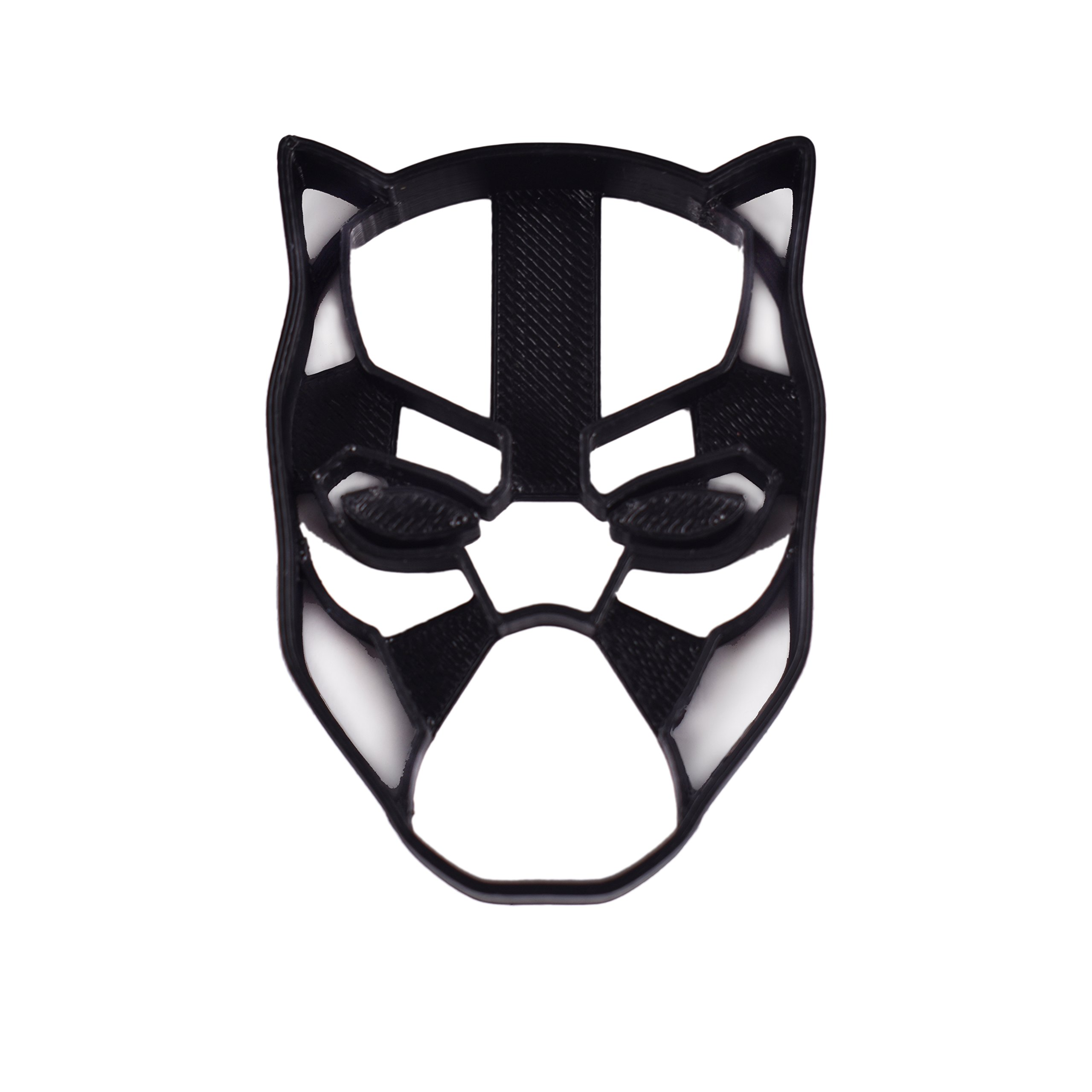 Black Panther Cookie Cutter & Fondant Cutter Classic Superhero Black Logo for Kids and Parents - Perfect for Cookies Cake Decorating Cupcake Toppers (1 Medium 2'' x 3'')