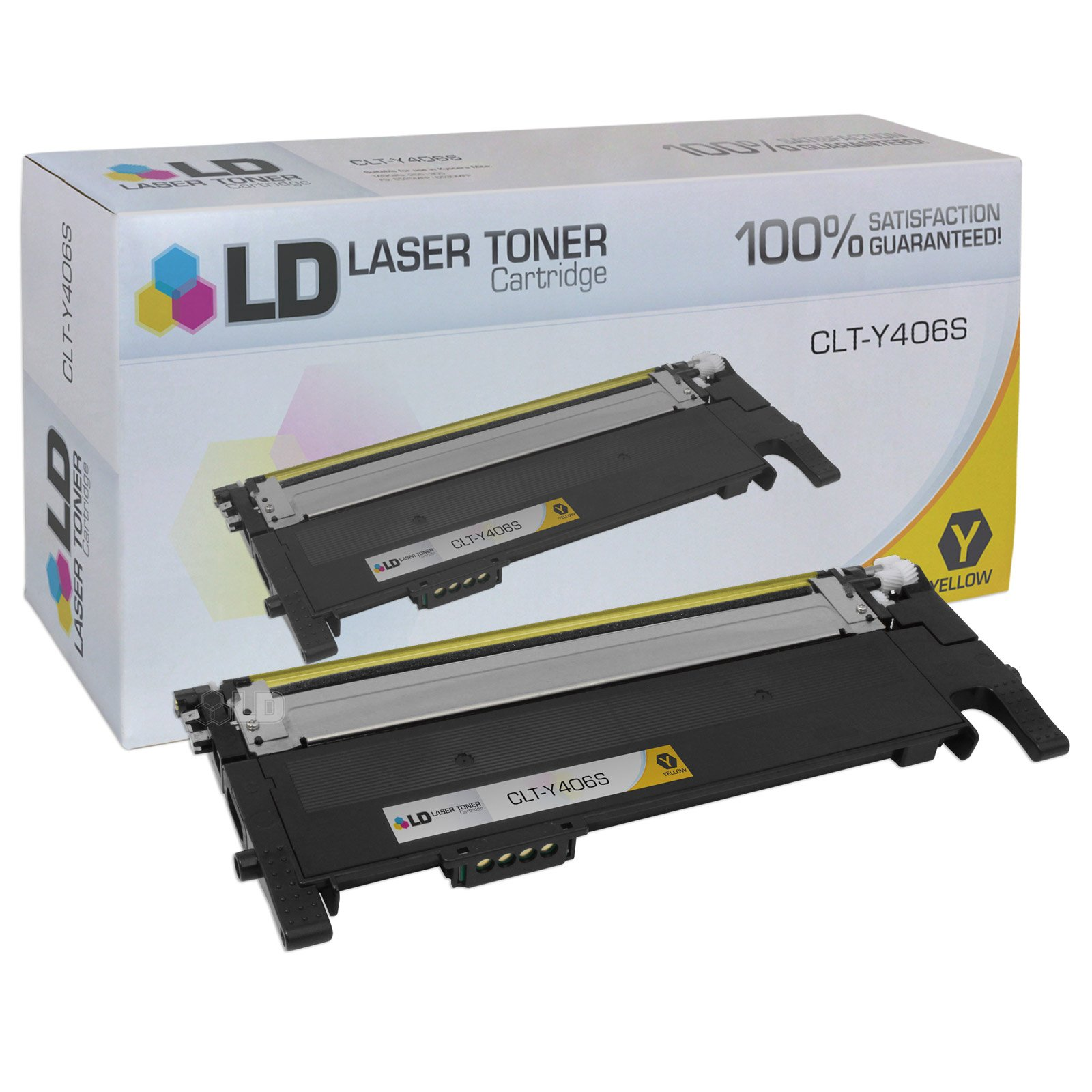 LD Compatible Toner Cartridge Replacement for Samsung CLT-Y406S (Yellow)