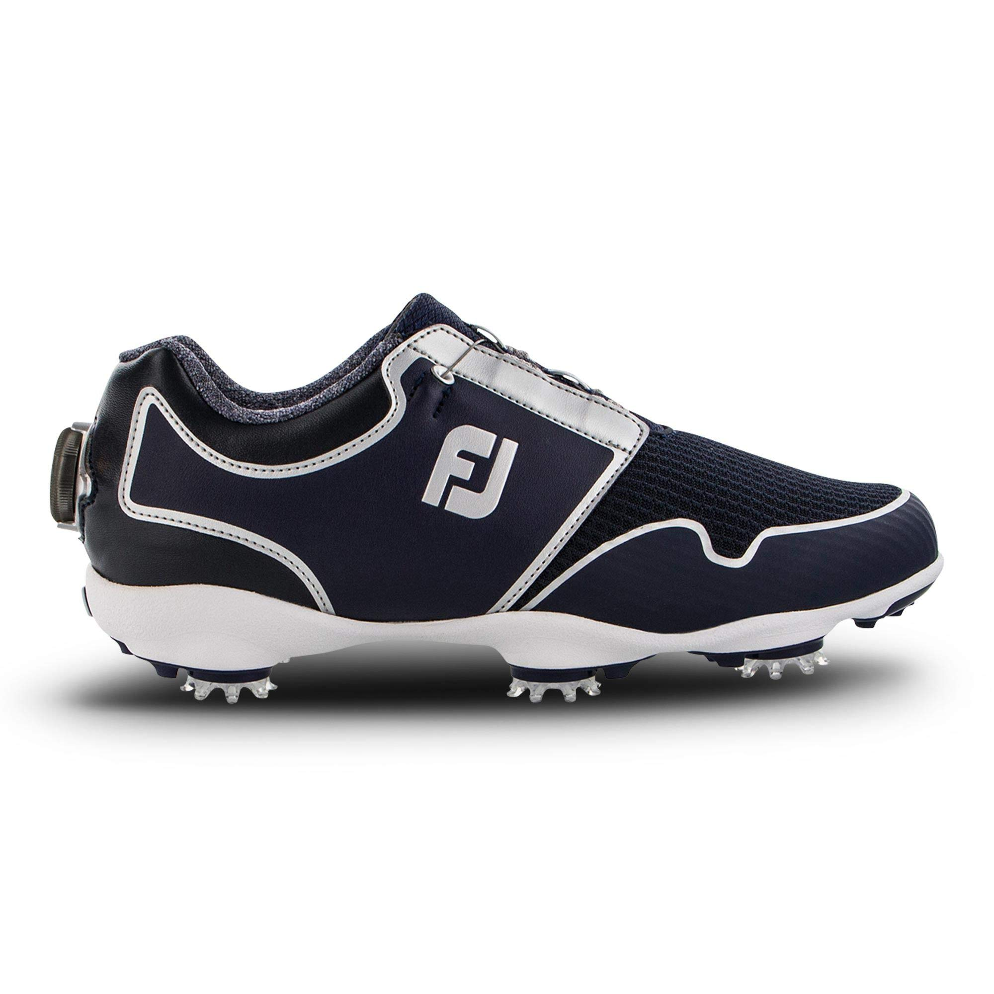 FootJoy Women's Sport TF Boa Golf Shoes, Black/White, 9.5 M US by FootJoy
