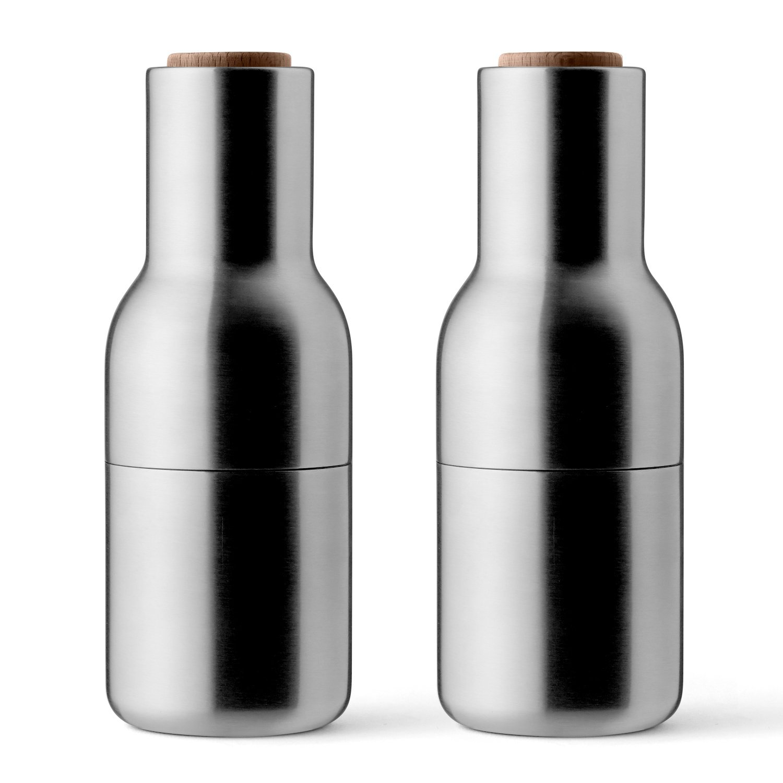MENU 4418119 Bottle Grinders Salt Pepper Mill, Brushed Steel/Walnut by Menu