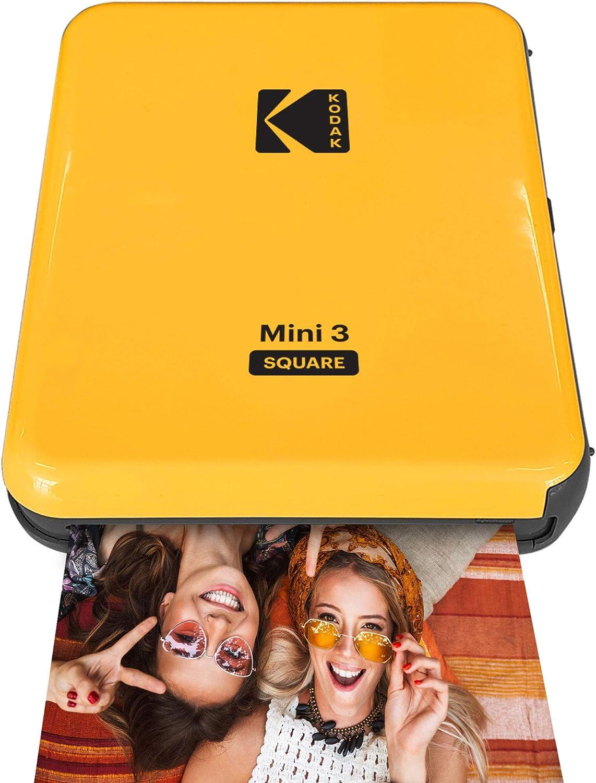 "KODAK Mini 3 Retro Portable Photo Printer 60 Sheets Item Title White 3/""x3/"" 4Pass Technology /& Laminating Process Compatible with iOS Real Photo: Print Photos Android /& Bluetooth Device"