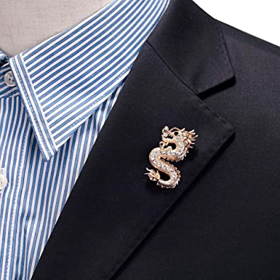 s pin antique chain gold accessories cross skull brooch men lapel itm rhinestone mens