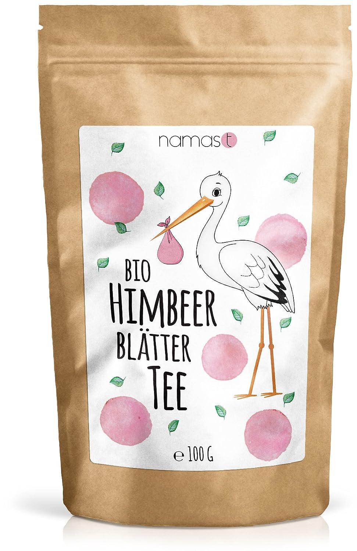 Himbeerblättertee BIO 100g - naturbelassen - 100% biologische Premium Qualität - Genuss von Himbeerblätter Tee in der Schwangerschaft mit der Hebamme abklären - abgefüllt und kontrolliert in Deutschland - von NamasT