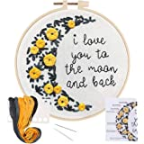 LIVEBOX Embroidery Kit for Beginners Cross Stitch Kits DIY Stamped Embroidery Starters Set with Floral Pattern…