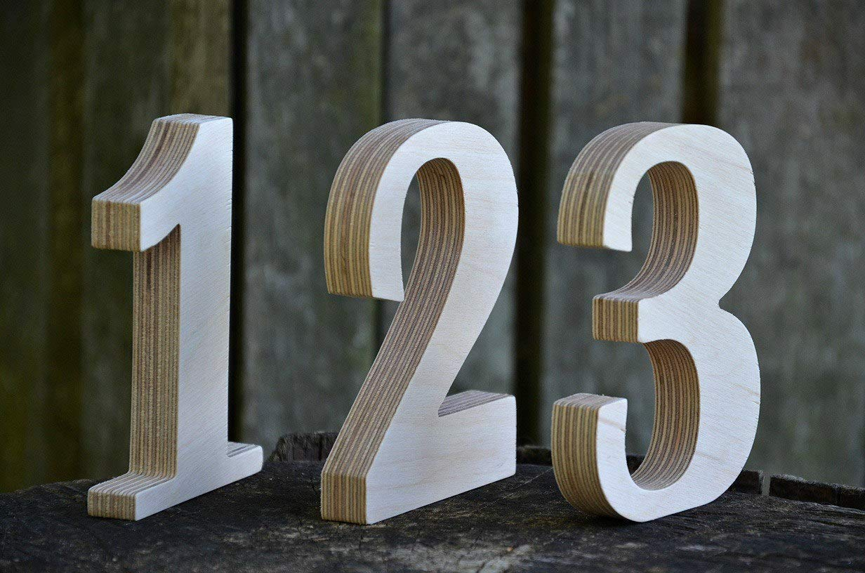 Amazon Com 1 10 4 Wooden Numbers Free Standing Wedding Table Numbers Cafe Or Restaurant Table Numbers Rustic Wedding Table Decor Handmade