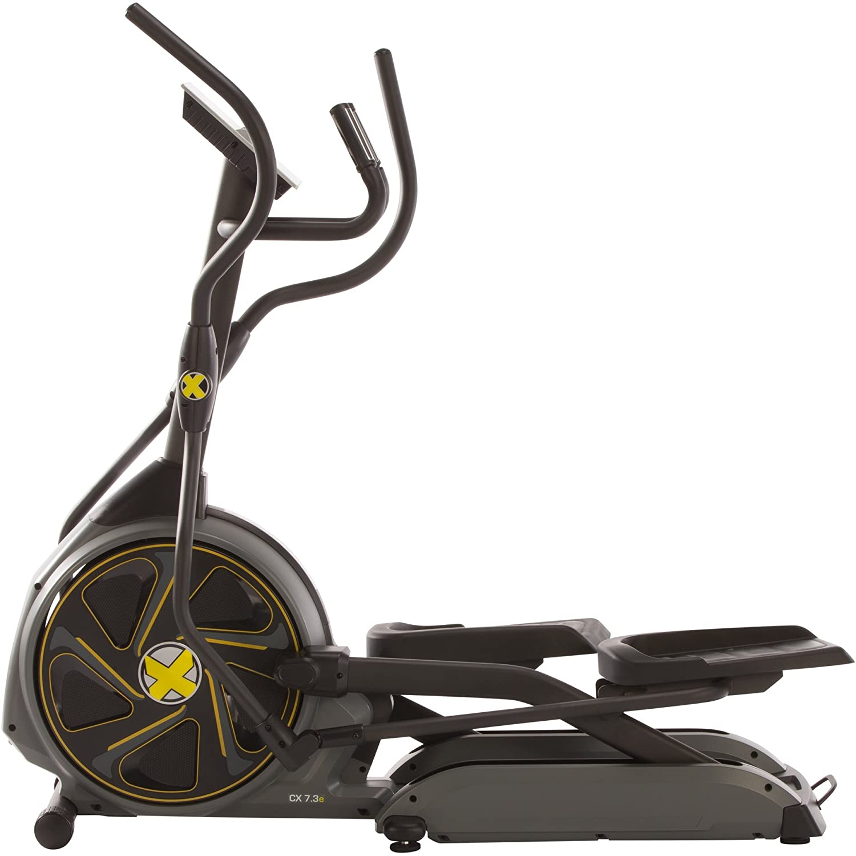 Maxxus CX 7.3e - Bicicleta elíptica /- Pedales suaves, sistema electrónico de freno magnético controlado, programas de entrenamiento, programas HRC, ...