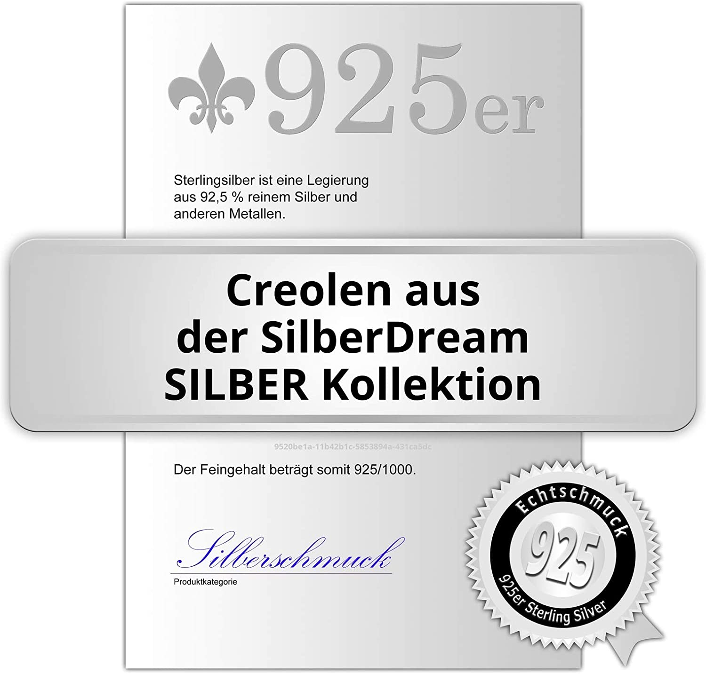 SilberDream Creolen 12mm Simply Ohrringe 333 Rosegold Damen Herren SDO6512E