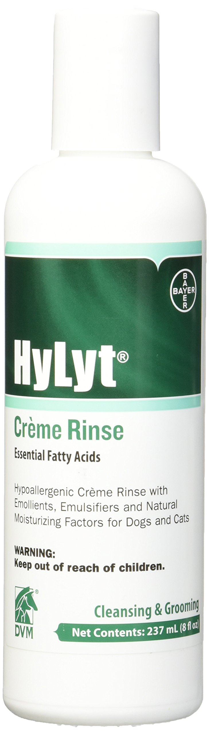 DVM Pharmaceuticals Hylyt Cream Rinse Pet Conditioner, 8-Ounce